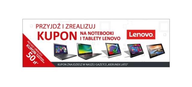 Kupon 50 zł na notebooki i tablety Lenovo