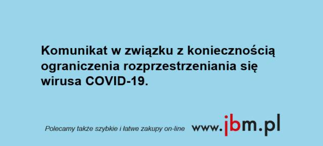 Ograniczenia w obsłudze salonu związku z COVID-19